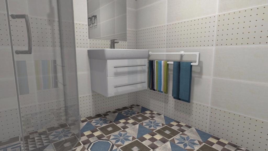 Projekt łazienki w klimacie śródziemnomorskim