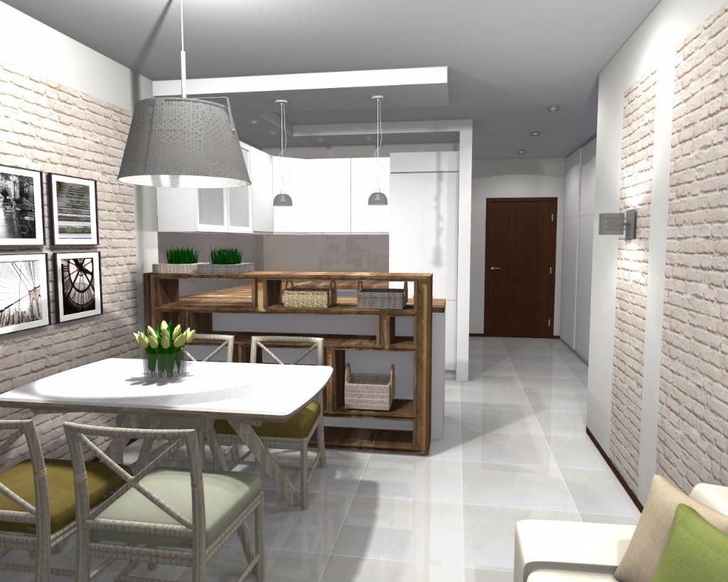 Projekt aneksu kuchennego niebieska komoda for Projekty kuchni z salonem