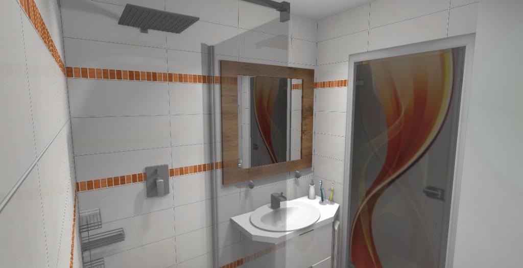 Projekt Małej łazienki Niebieska Komoda Projektowanie Wnętrz