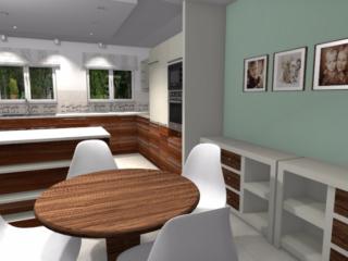 Projekt Klasycznej Kuchni W Domu Jednorodzinnym Niebieska Komoda