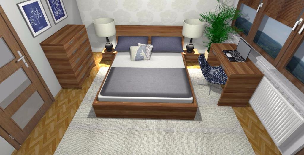 Projekt klasycznej sypialni