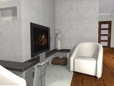 Salon w domu jednorodzinnym