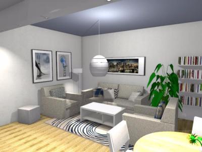 Salon w stylu skandynawskim