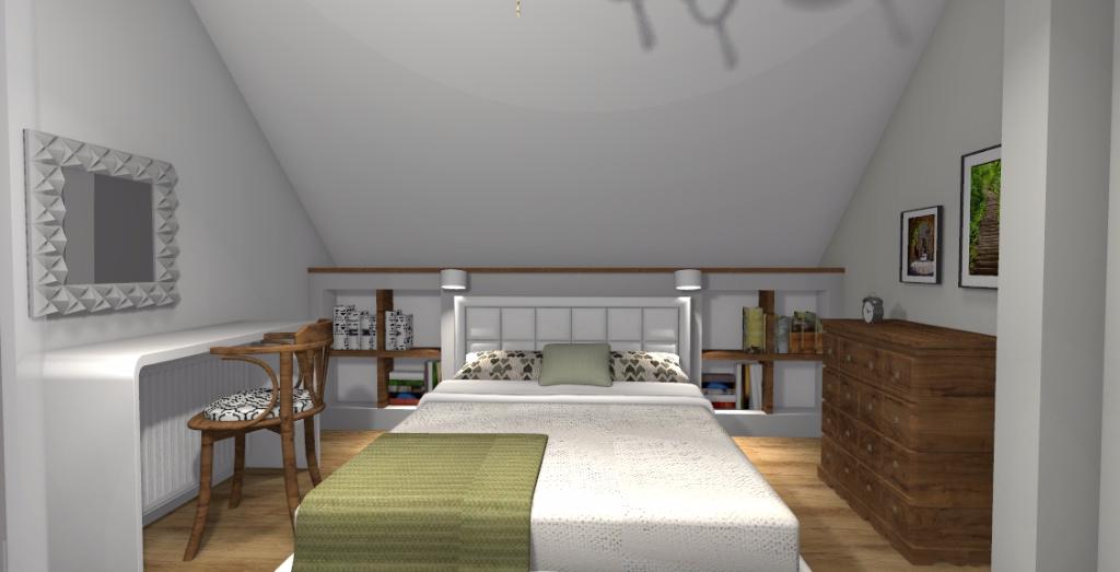 Klasyczna sypialnia z garderobą - Niebieska Komoda ...