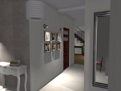 Nowoczesny korytarz w domu