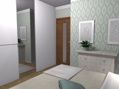 Pastelowa sypialnia