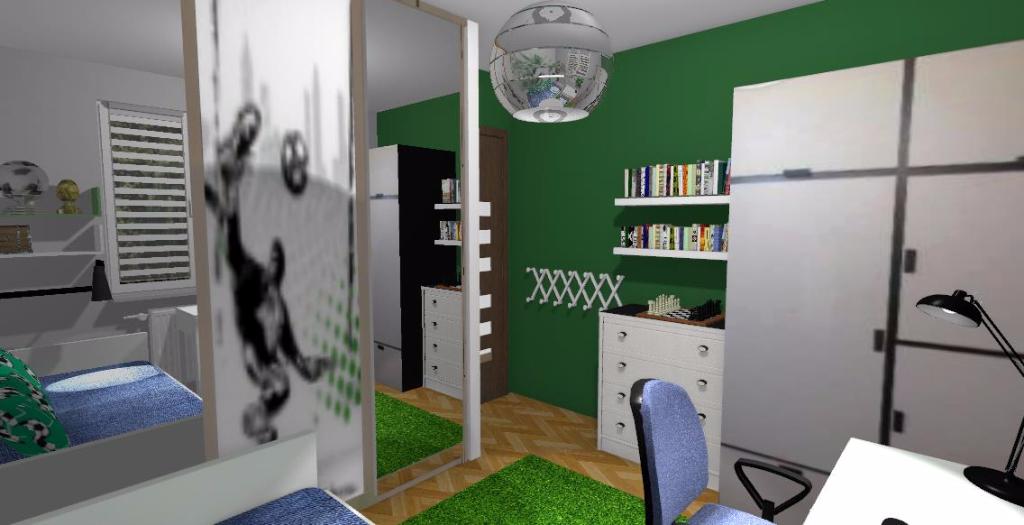 Pokój dla chłopca-piłkarza