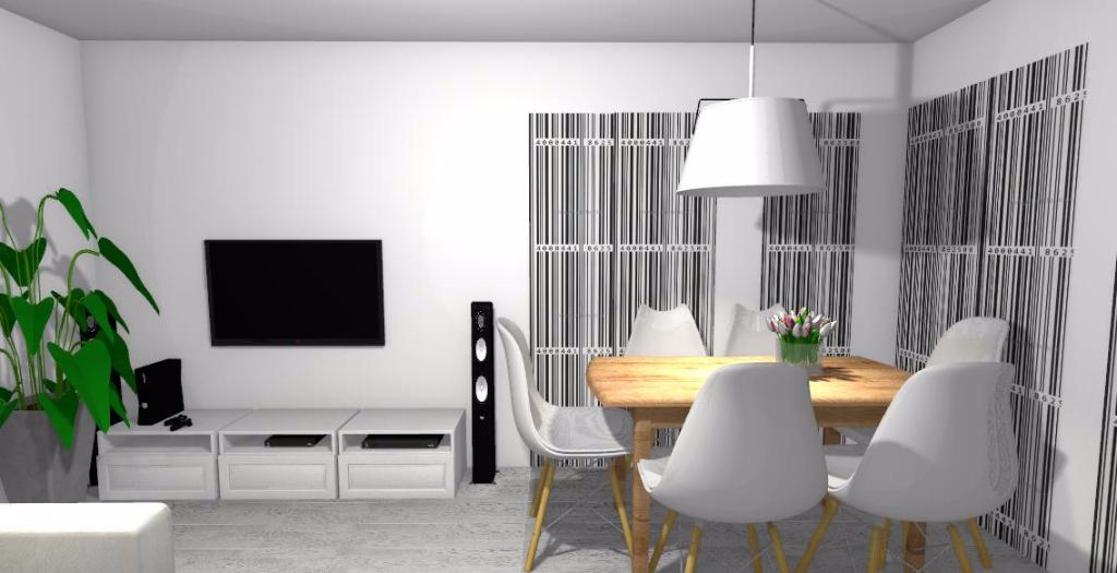 salon biało-czarny