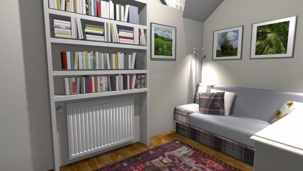Sypialnia w kawalerce