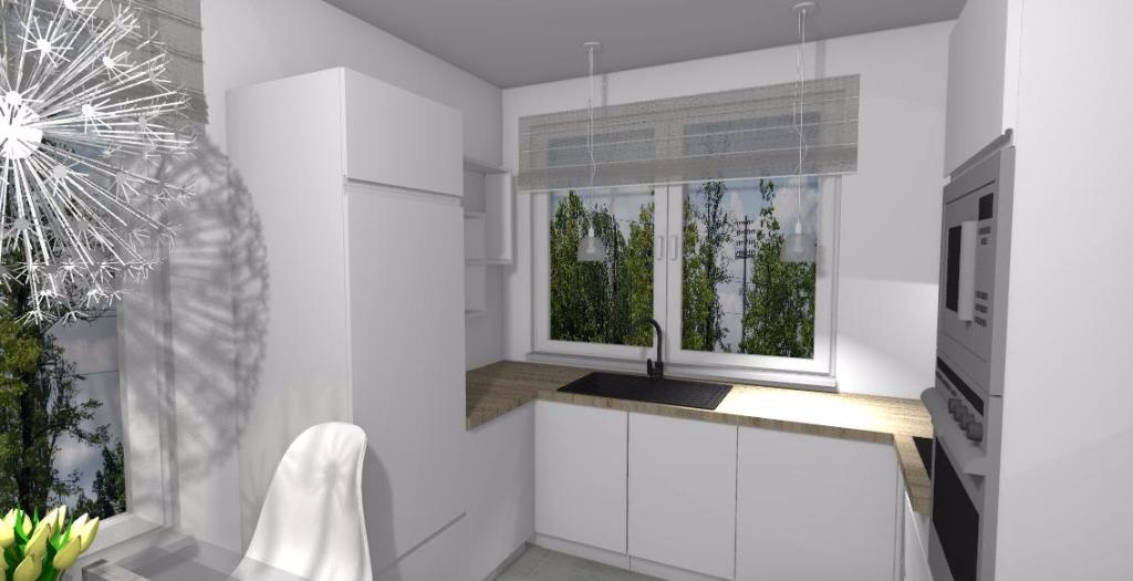 Drewniany blat w kuchni  Niebieska Komoda  projektowanie   -> Kuchnia Drewniany Blat