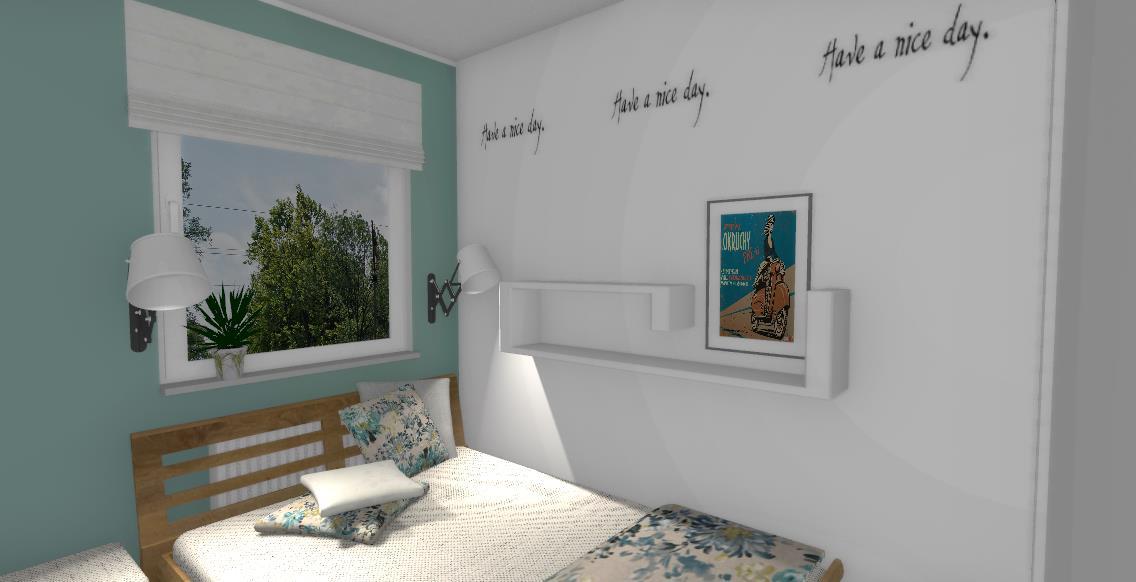 naklejka na ścianie sypialni