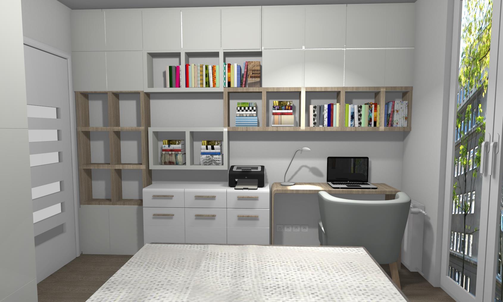 Sypialnia z miejscem do pracy