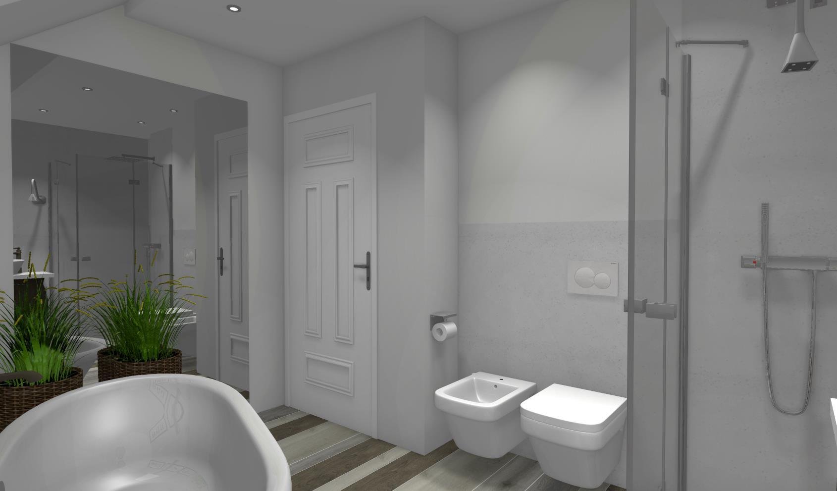 Beton Architektoniczny W łazience Niebieska Komoda