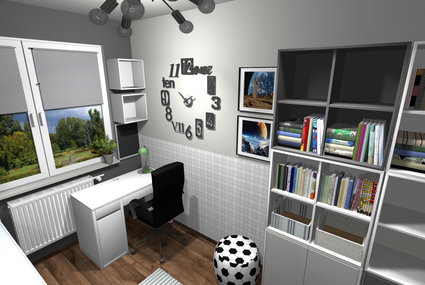 projekt online pokój chłopca
