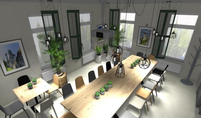 Sala konferencyjna w stylu eco