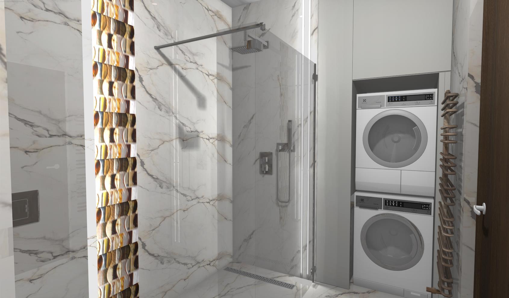 Bursztynowa mozaika w łazience