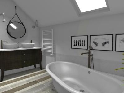 Beton architektoniczny w łazience