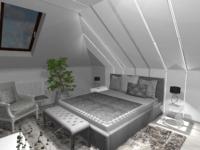 projekt sypialni aranżacja wnętrza
