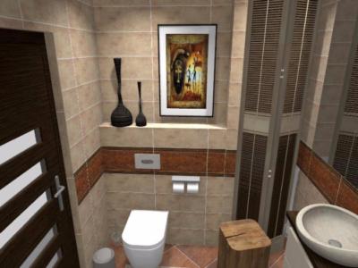 Projekt łazienki w stylu afrykańskim