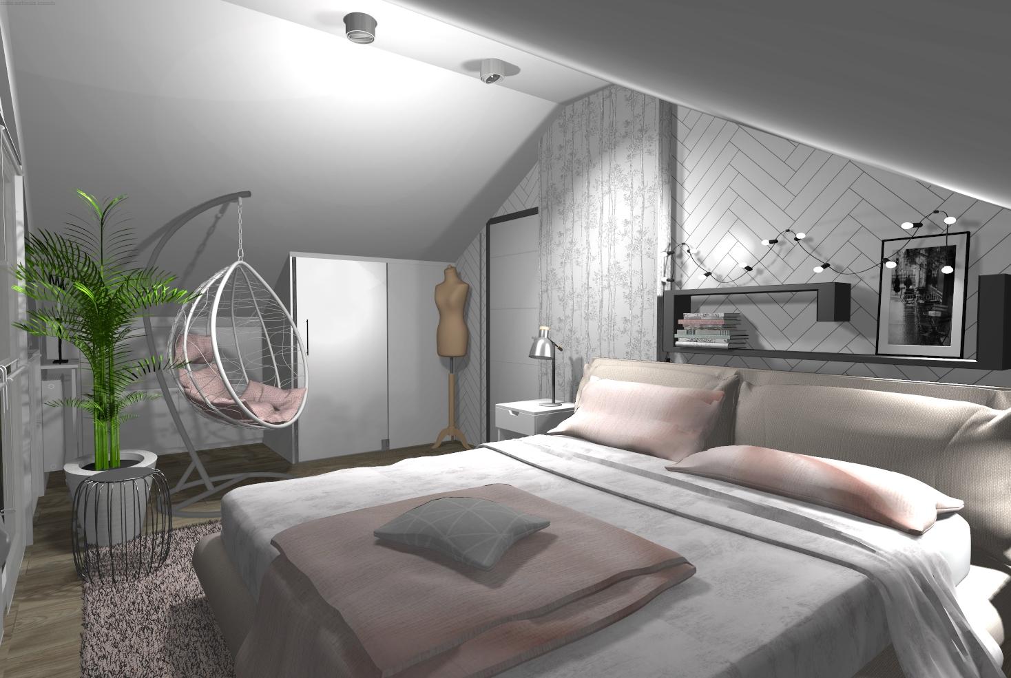 Sypialnia pod skosem