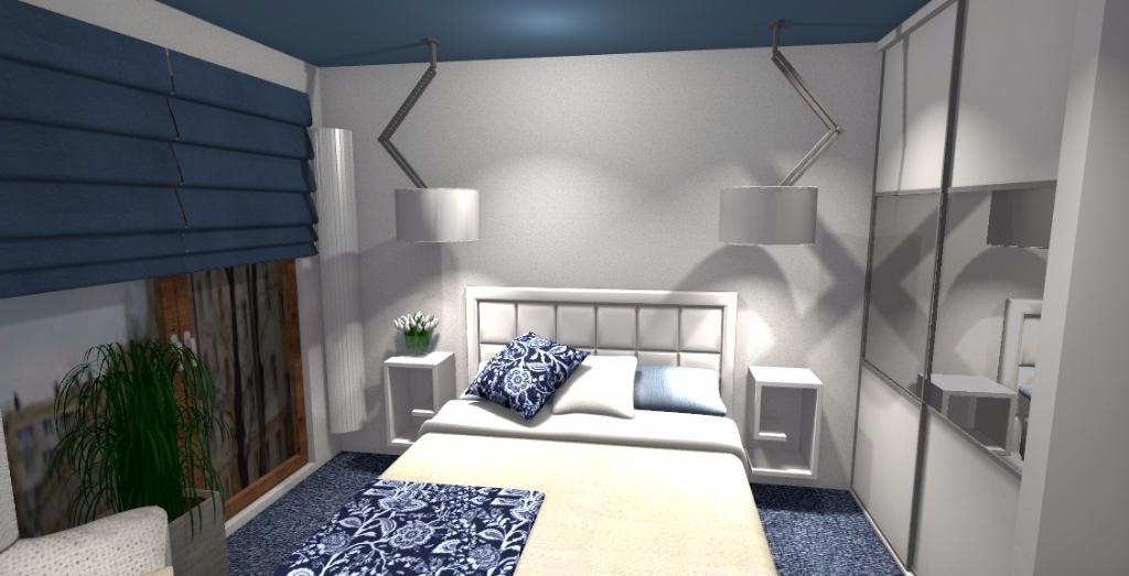 Sypialnia w stylu greckim