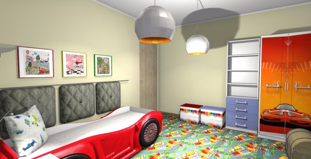 Projekt pokoju dla małego chłopca 2