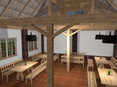 Projekt sali biesiadnej
