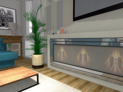 Salon z bio-kominkiem