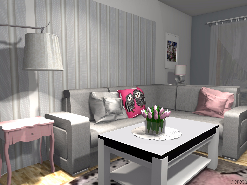 salon z różem