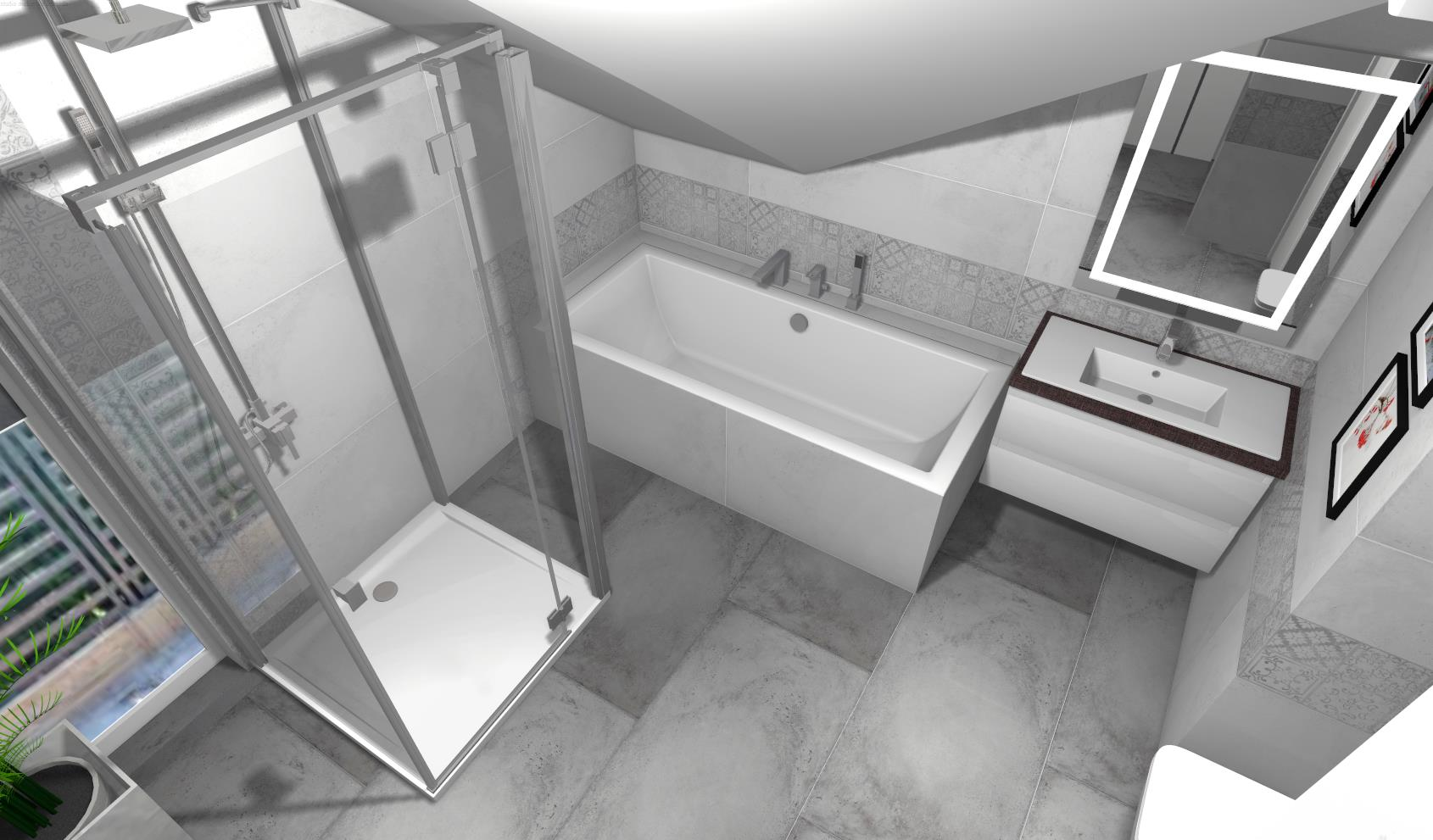 Modna łazienka w szarościach