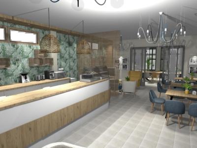 Kawiarnia w stylu eco