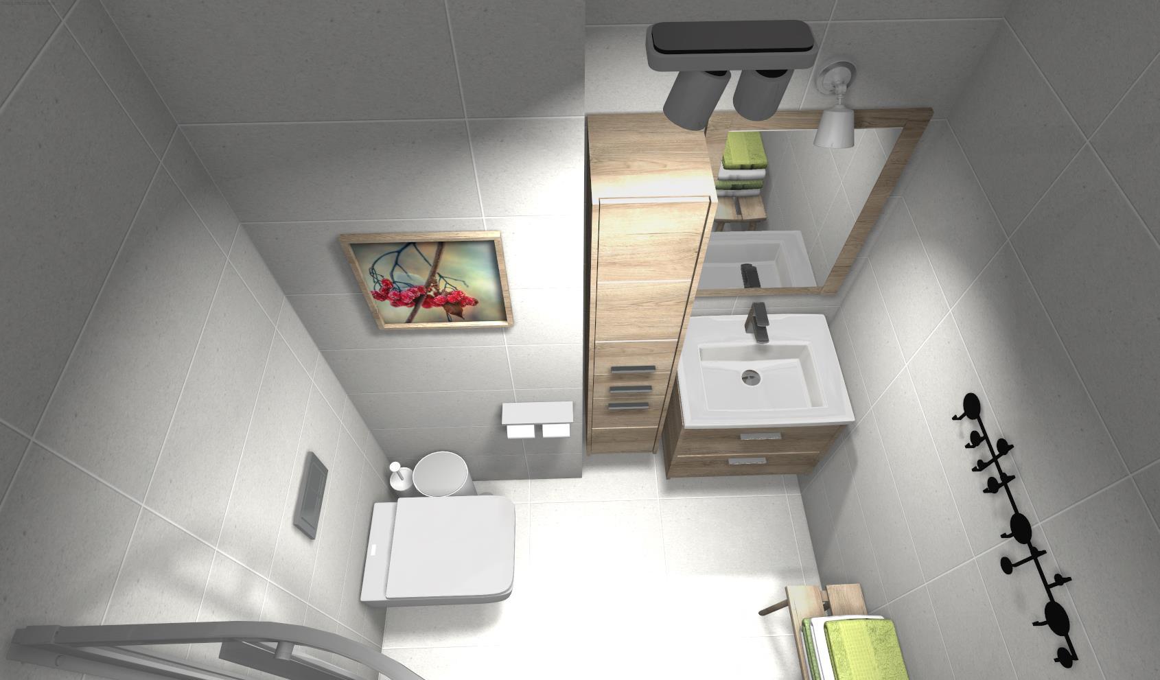 płytka betonowa w łazience szara łazienka