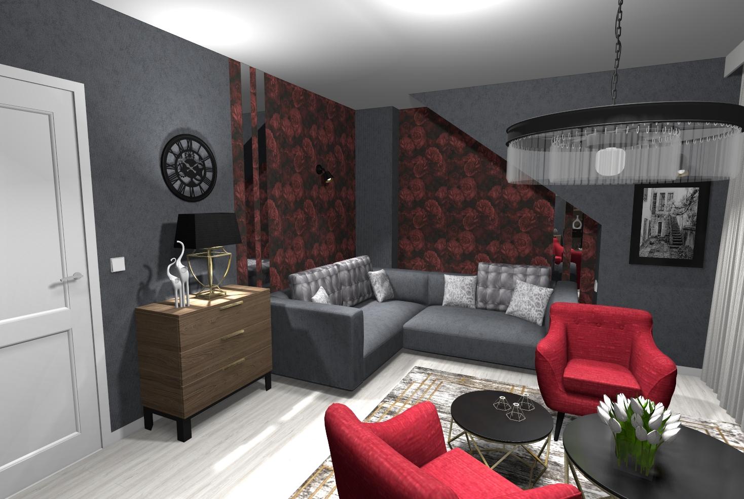 Elegancki pokój na poddaszu