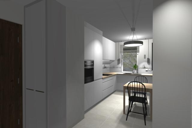 Lakobel z nadrukiem w kuchni