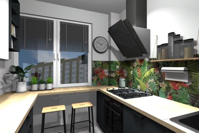 Motywy florystyczne w kuchni