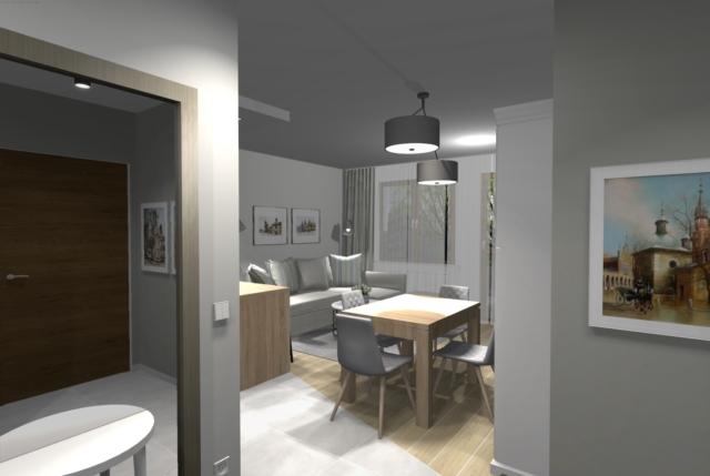 Półwysep w kuchni i salonie