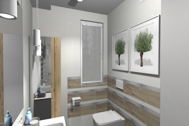 Projekt wąskiej łazienki